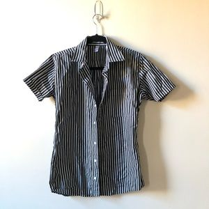 American Apparel Striped Short Sleeve Button Down